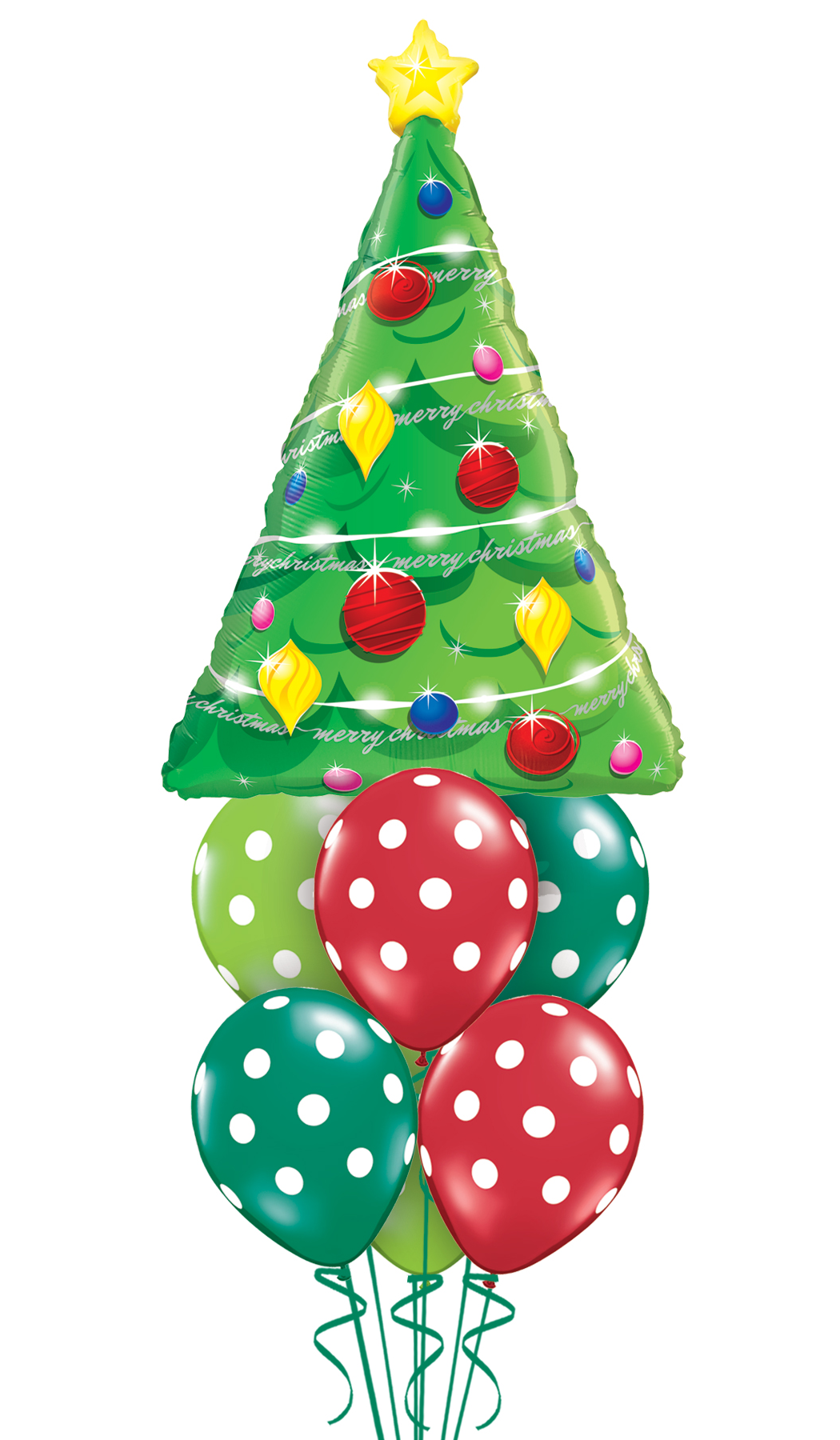 Christmas Tree Balloon.Jumbo Christmas Tree